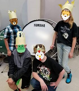 "Four of Angela Richmond's band students at Foothills Middle School in Wenatchee, Wash., were named ""March King"" and proudly wore their crowns throughout the school day."