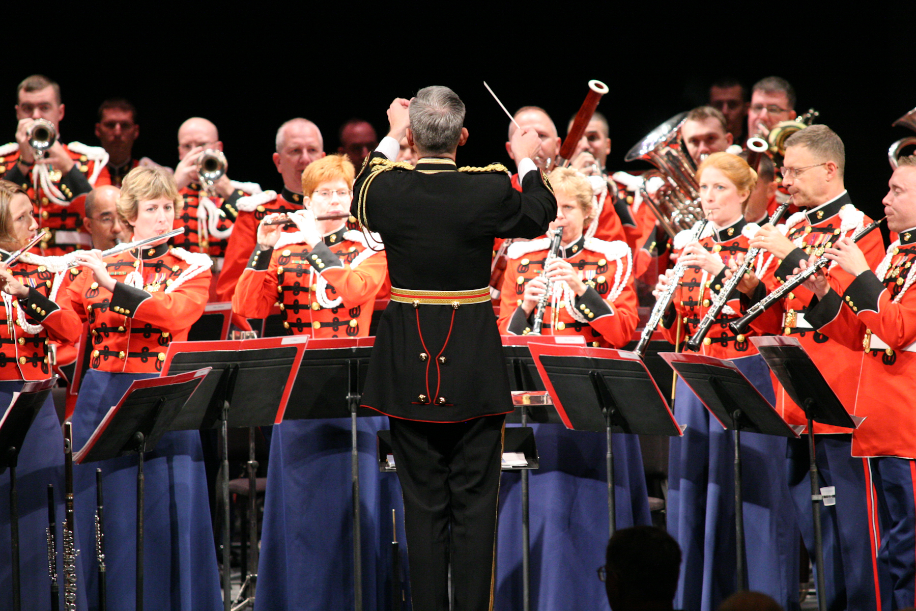 The Marine Band on tour in Lebanon, Pa., Oct. 2, 2007.